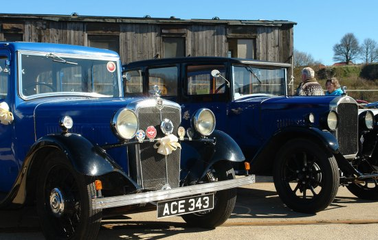 Classic cars at Locomotion
