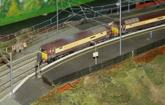 A model railway display