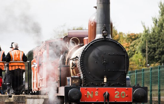 Visitors to Locomotion take a ride behind steam locomotive Furness 20
