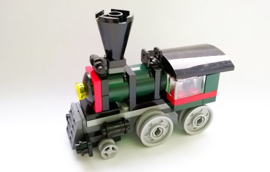 A Lego locomotive