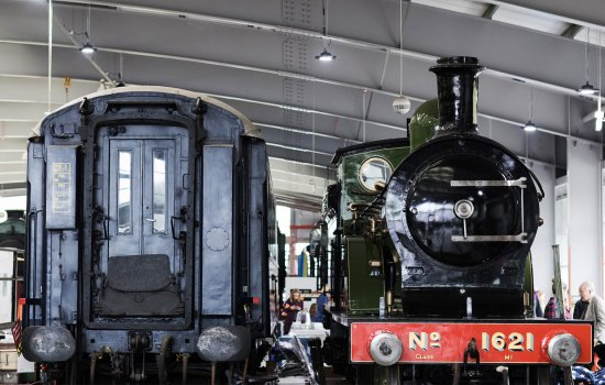 Locomotives in the Collection Building