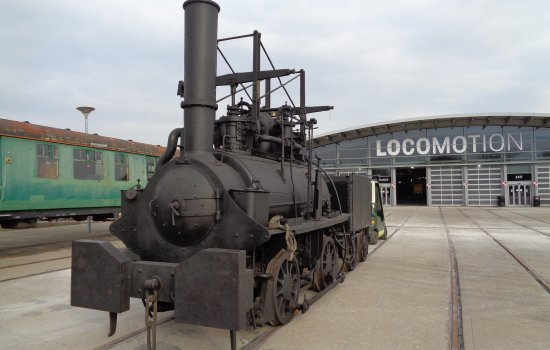 The Hetton locomotive outside Locomotion