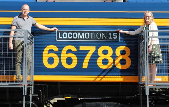The newly named Locomotion 15 locomotive