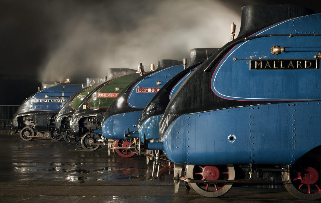 A-4 Class locomotives at the Great Gathering, 2014