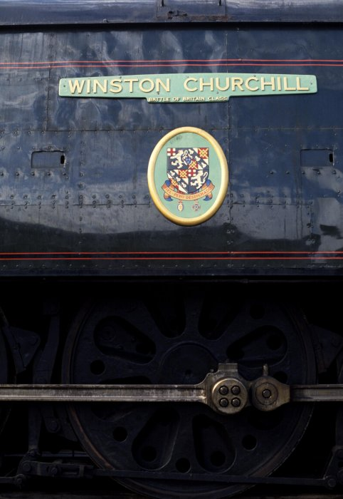 "Southern Railway, Battle of Britain class 4-6-2 No 34051 ""Winston Churchill"""