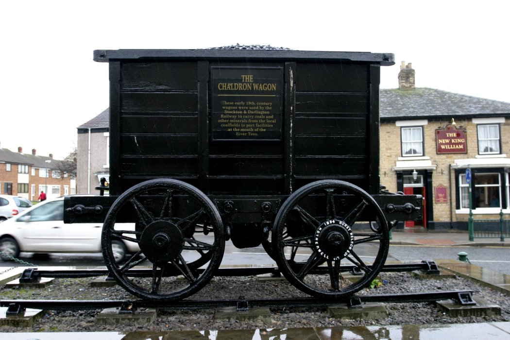 Chaldron wagon used in the early 19th century to transport coal