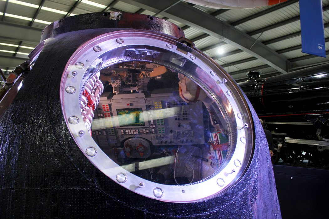 Close-up of Soyuz capsule