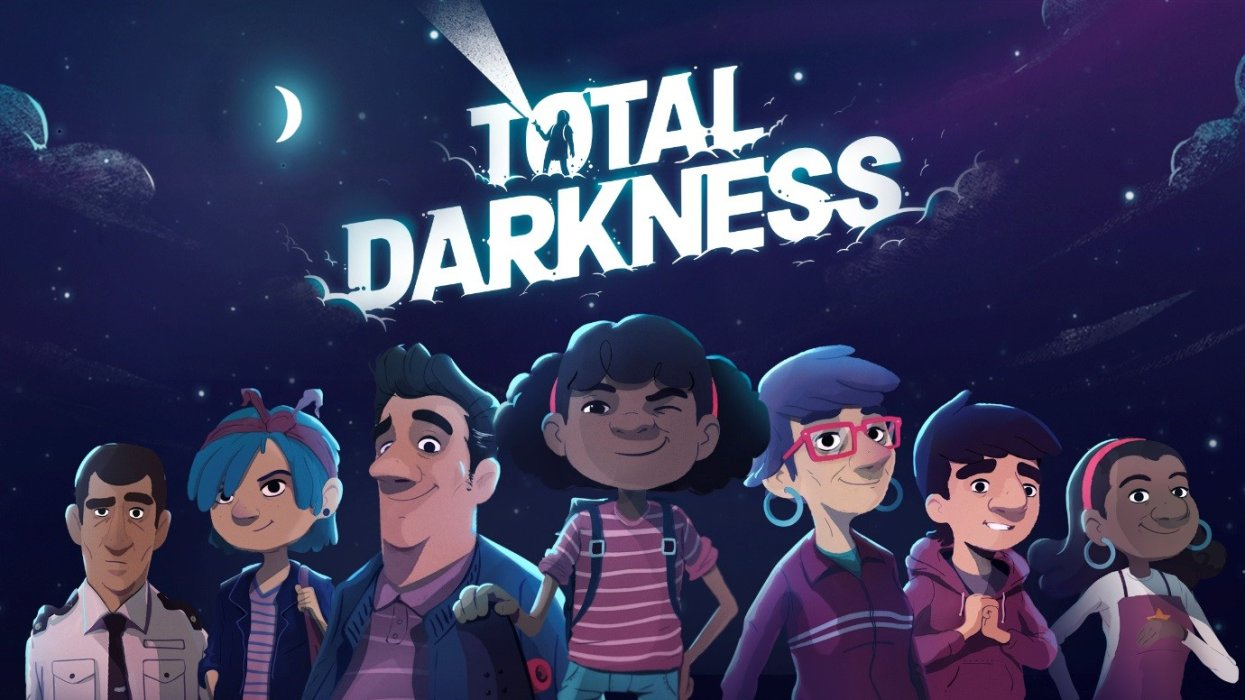 Screenshot from Total Darkness game showing characters