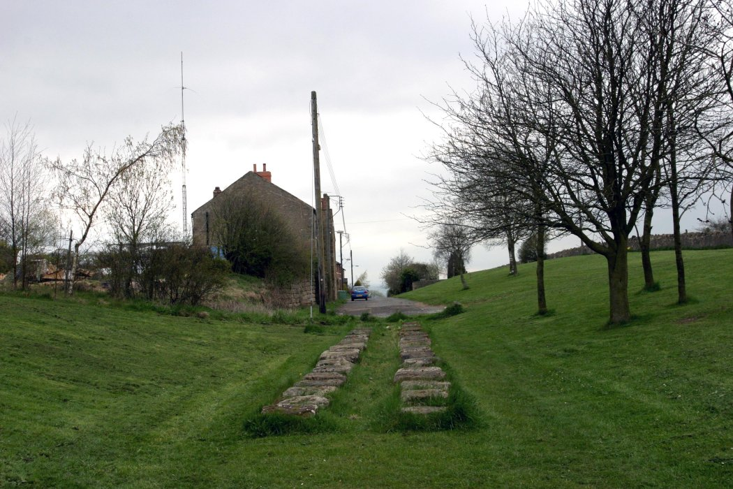 Looking up Brusselton incline toward's the former engineman's house