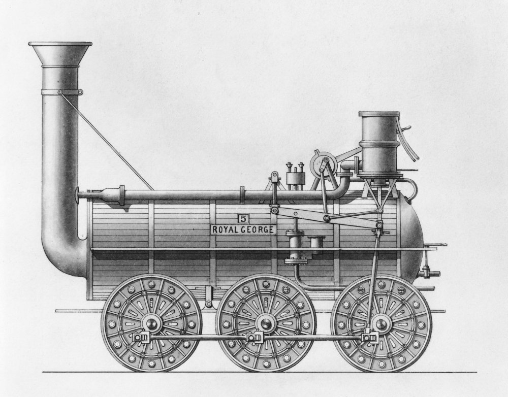 Drawing of Hackworth's Royal George locomotive, 1827