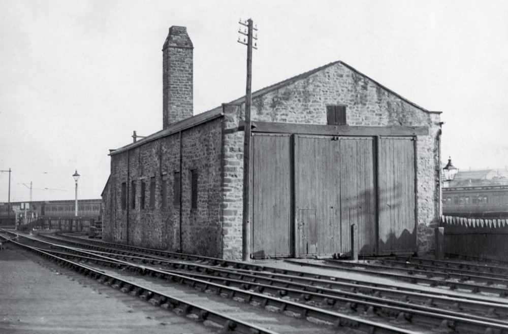 Kilburn shed in the early 20th century, after it had been converted to a wagon shop.